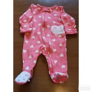 Just One You By Carter's Pink Sheep Footed Pajamas